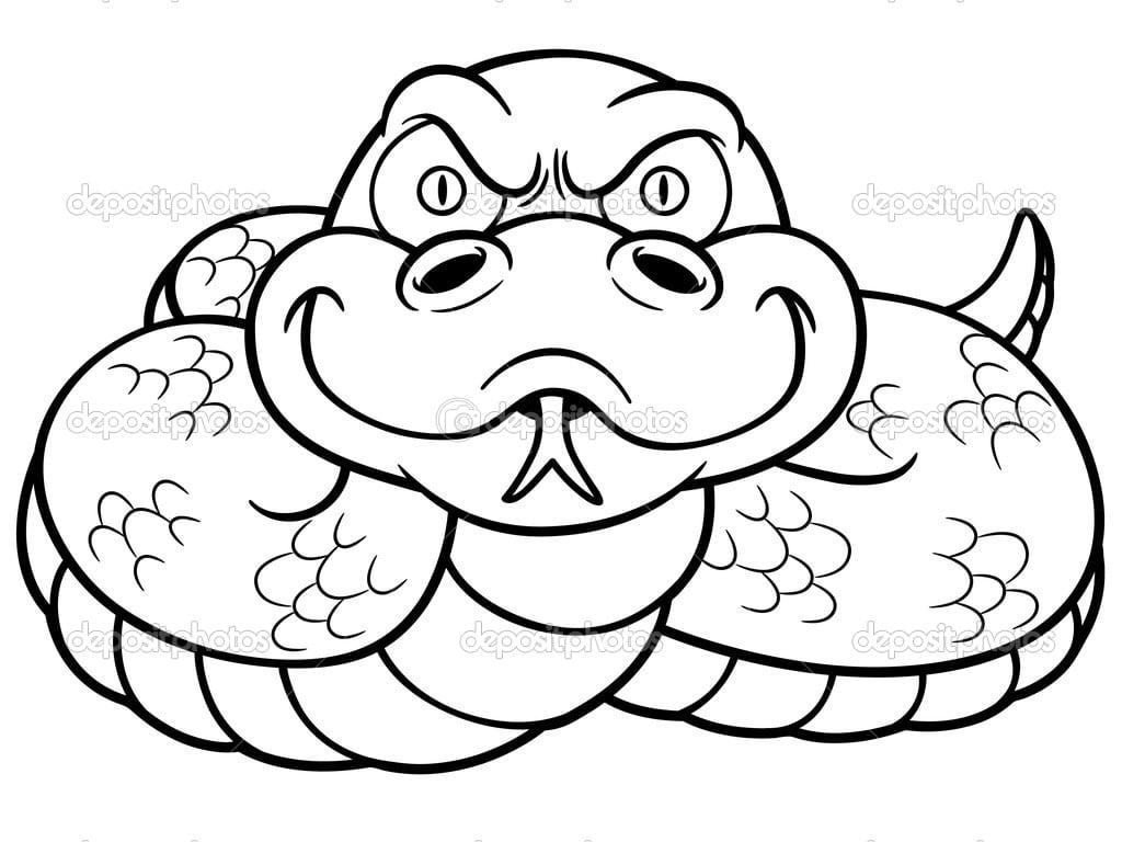 Cobra Dos Desenhos Animados — Vetor De Stock © Sararoom  38042297
