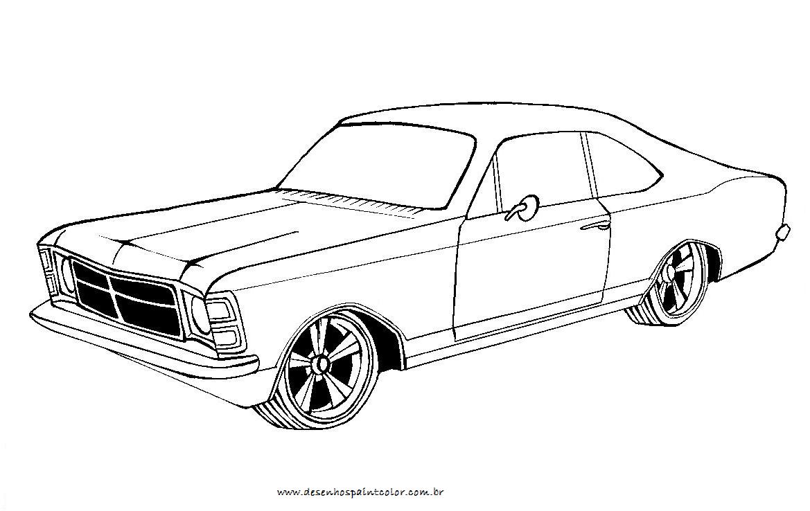 Colorindo E Desenhando  Carro Para Colorir  6
