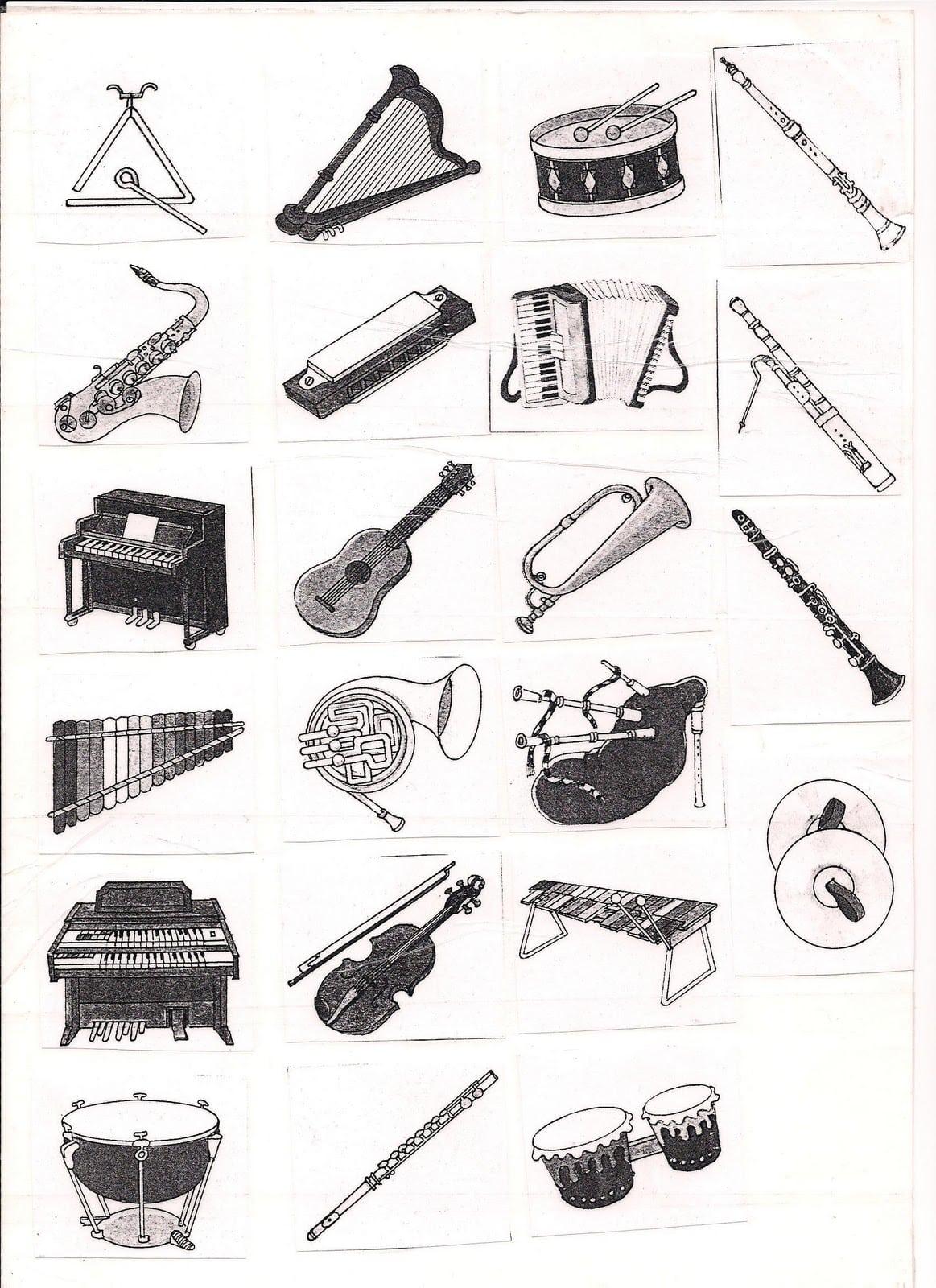 Colorir Instrumentos Musicais