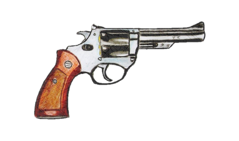 Como Desenhar Uma Arma Revólver Calibre 38