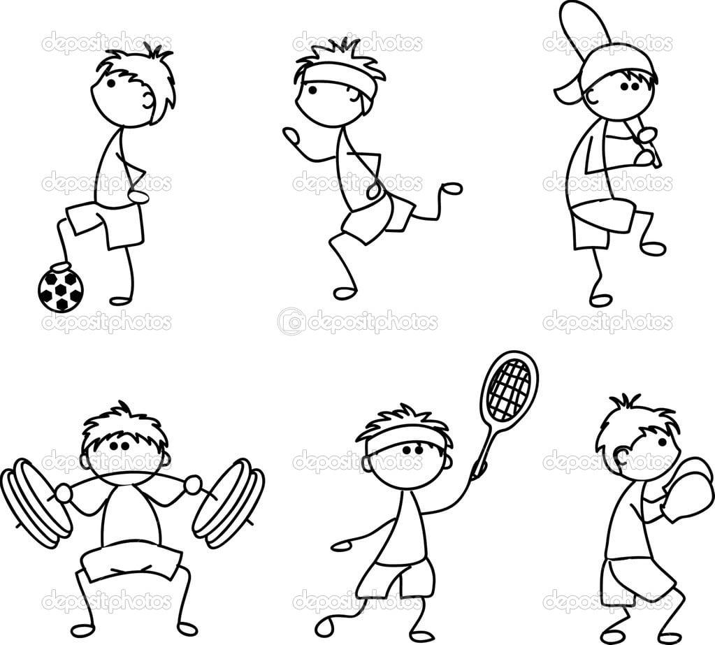 Ícone Do Esporte Dos Desenhos Animados — Vetor De Stock