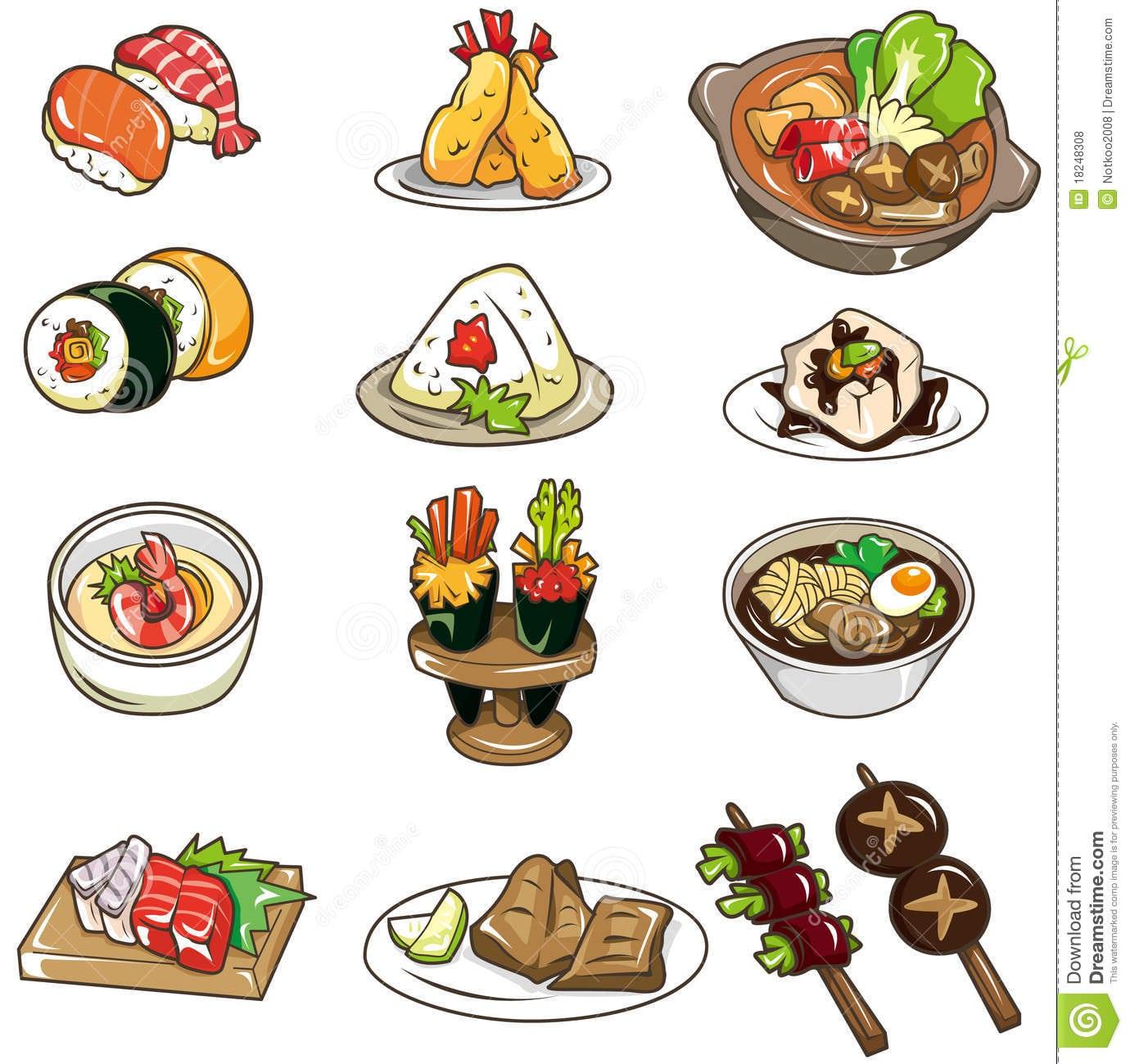 Ícone Japonês Do Alimento Dos Desenhos Animados Fotos De Stock