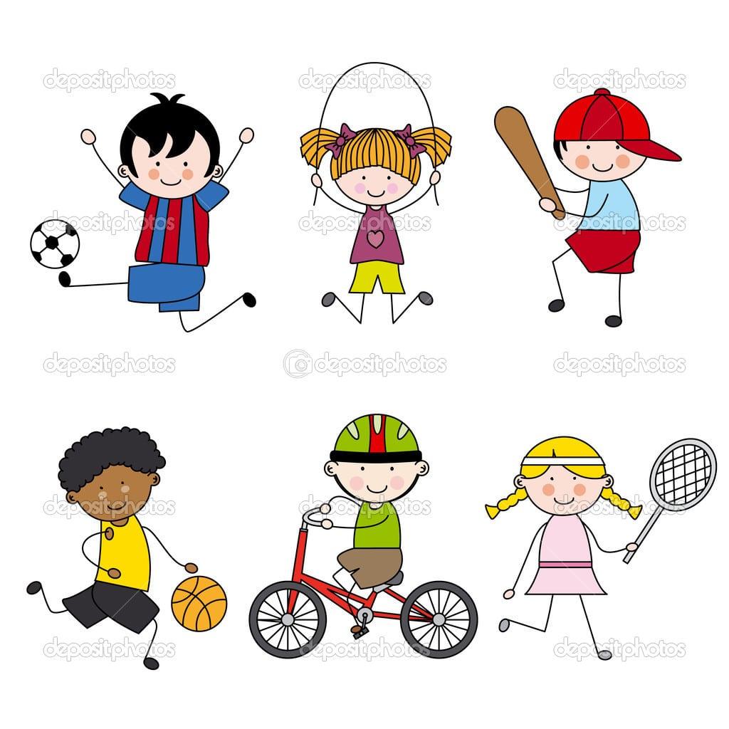 Conjunto De ícones De Esporte Do Vetor Dos Desenhos Animados