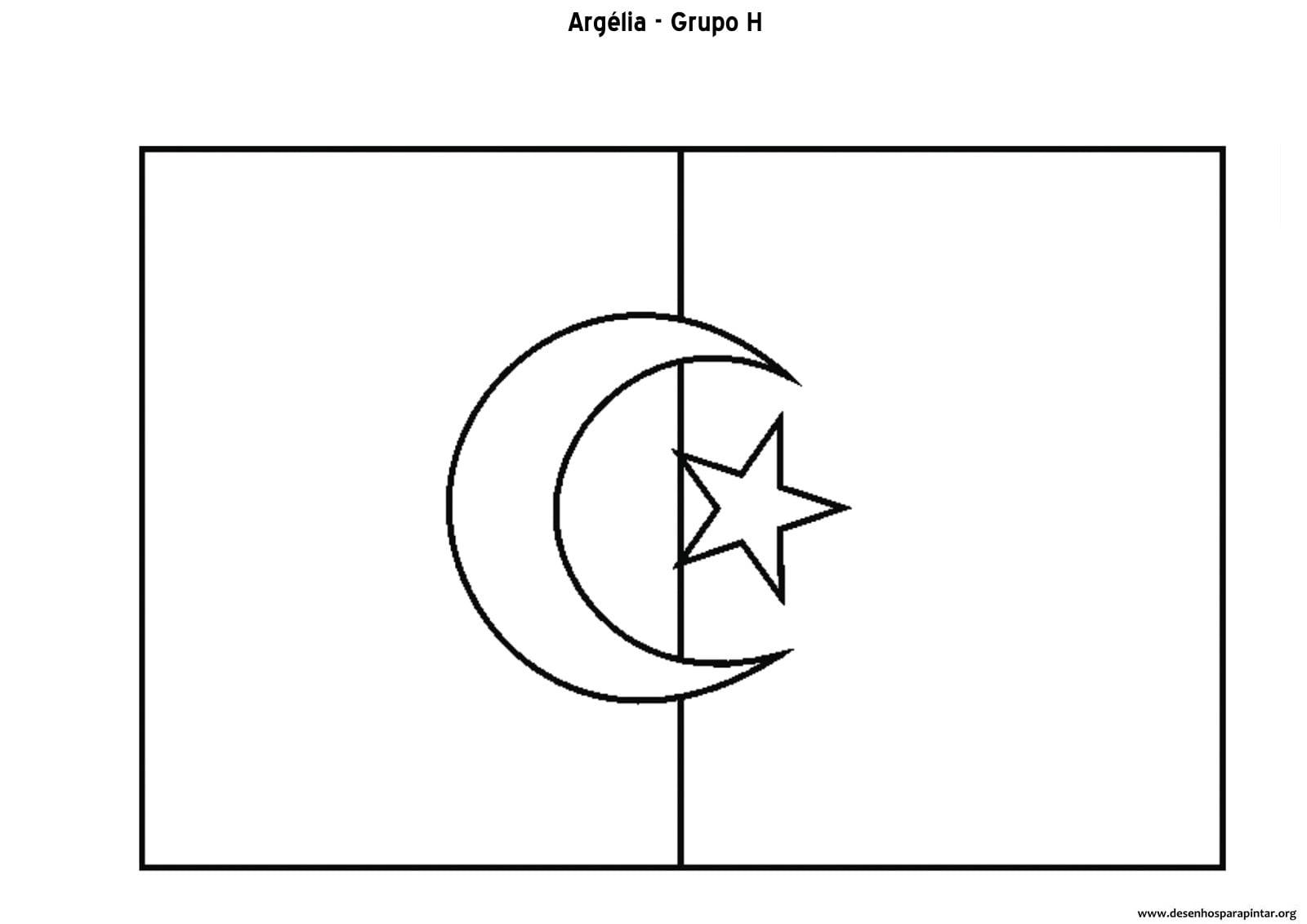 Copa 2014 – Bandeiras Das Seleções Do Grupo H – Argélia, Bélgica