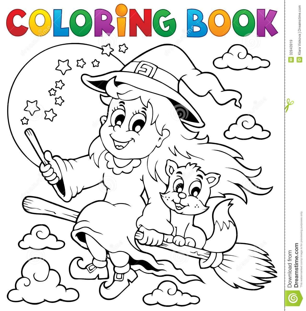 Coruja 1 De Dia Das Bruxas Do Livro Para Colorir Fotografia De