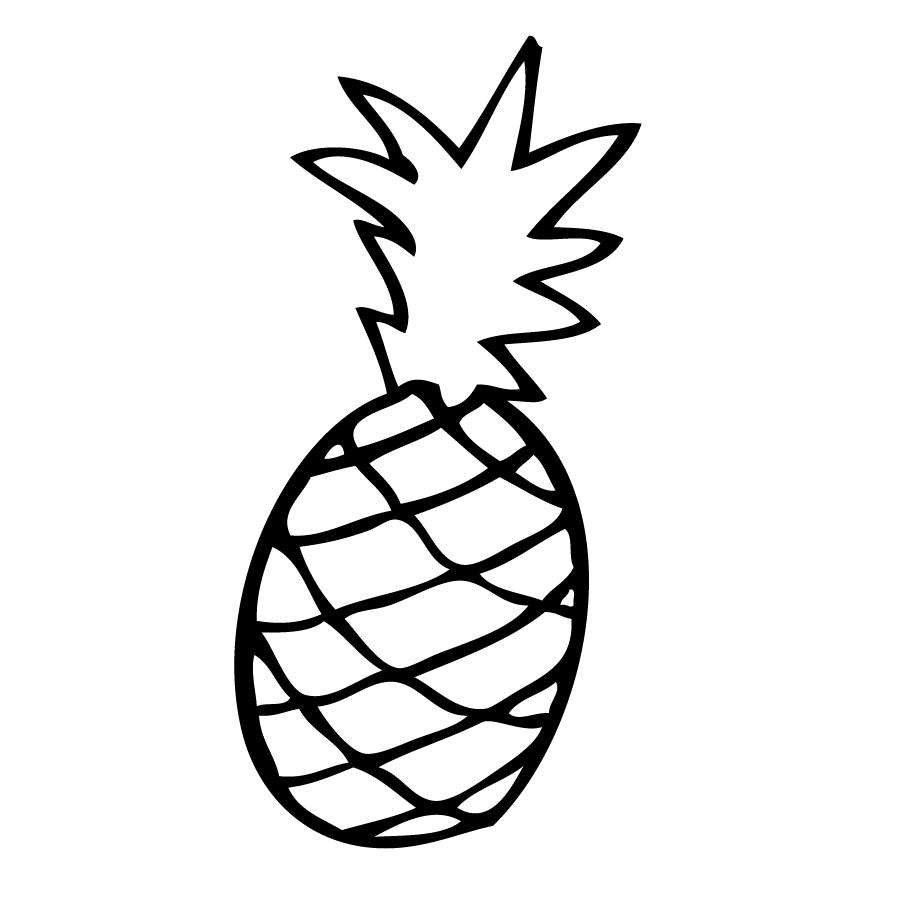 Desenho De Abacaxi Para Pintar, Colorir, Imprimir! Abacaxi Moldes