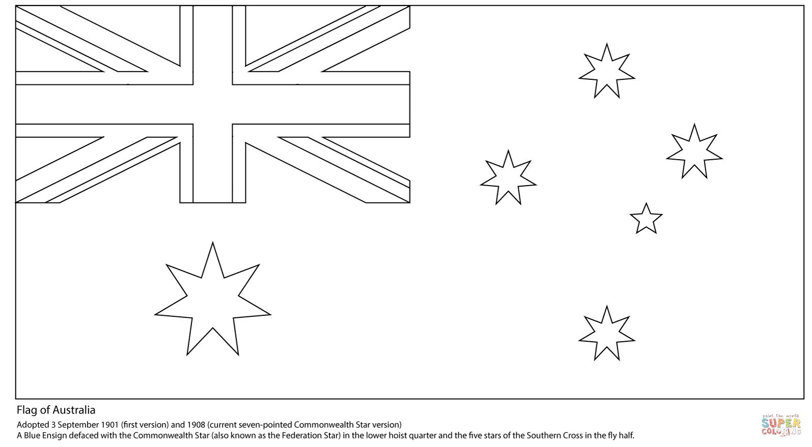 Bandeira Da Nova Zelandia Para Colorir