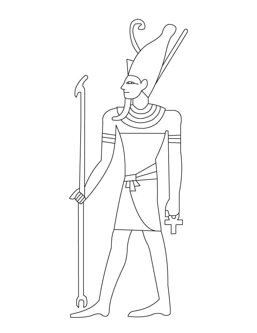 Desenho De Faraó Egípcio Para Colorir