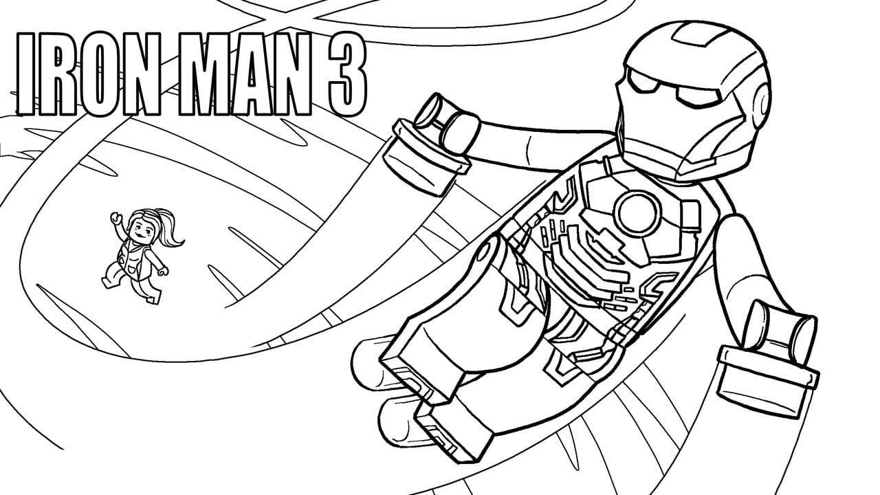 Desenho De Lego Iron Man Para Colorir