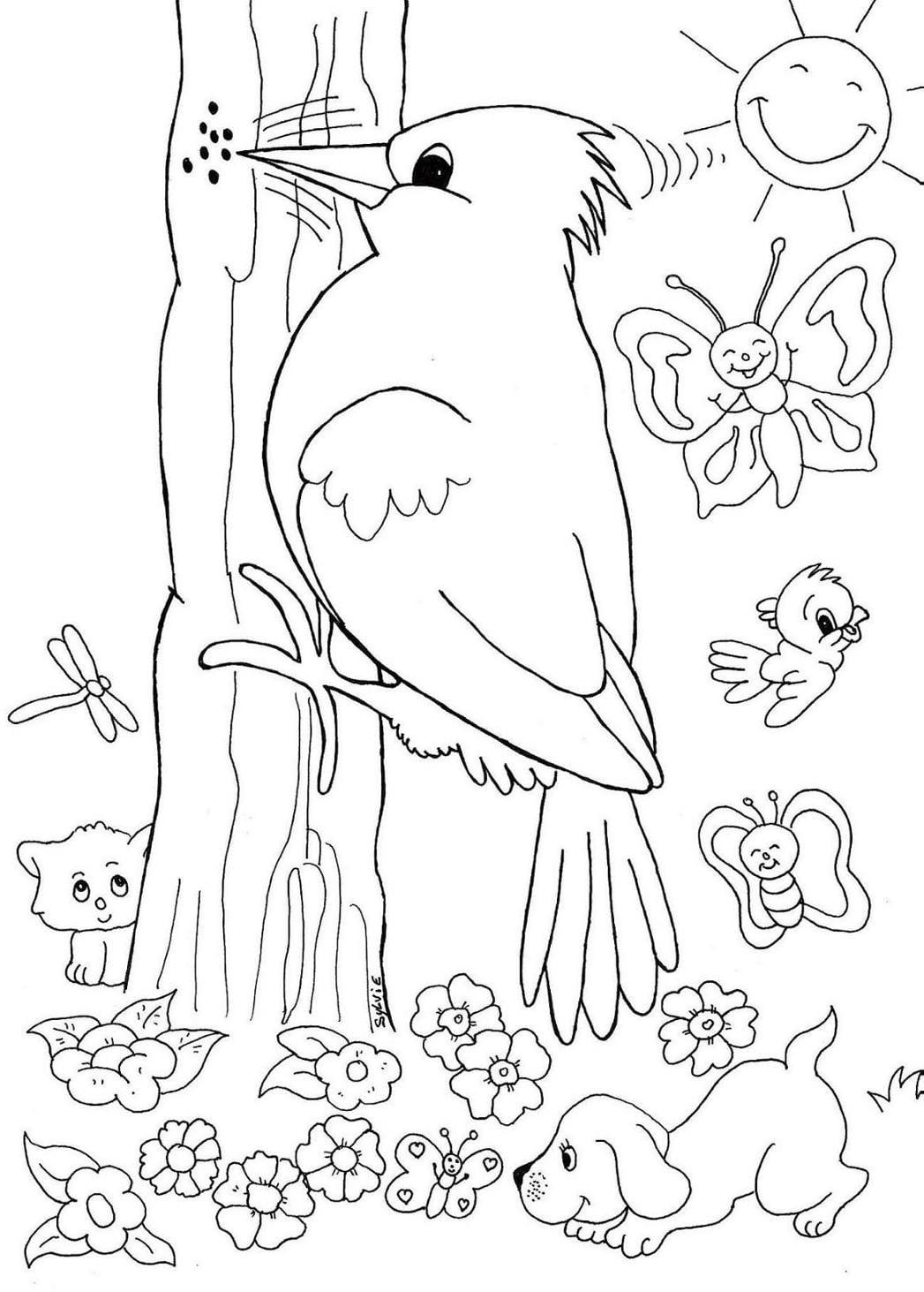Desenho De Passarinhos Para Colorir ~ Imagens Para Colorir