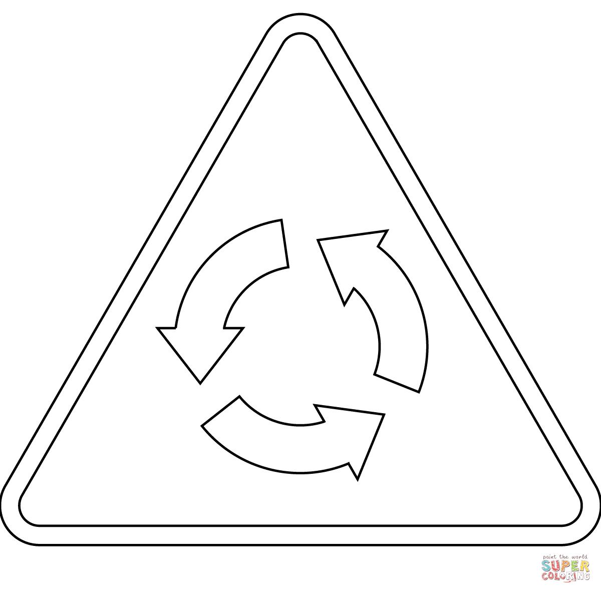 Desenho De Rotatória Adiante A