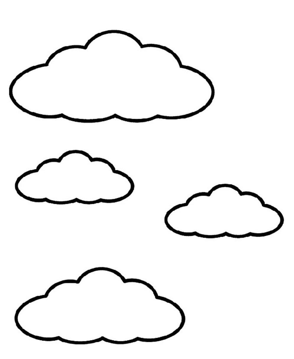 Desenho De Sol E Nuvens Para Colorir