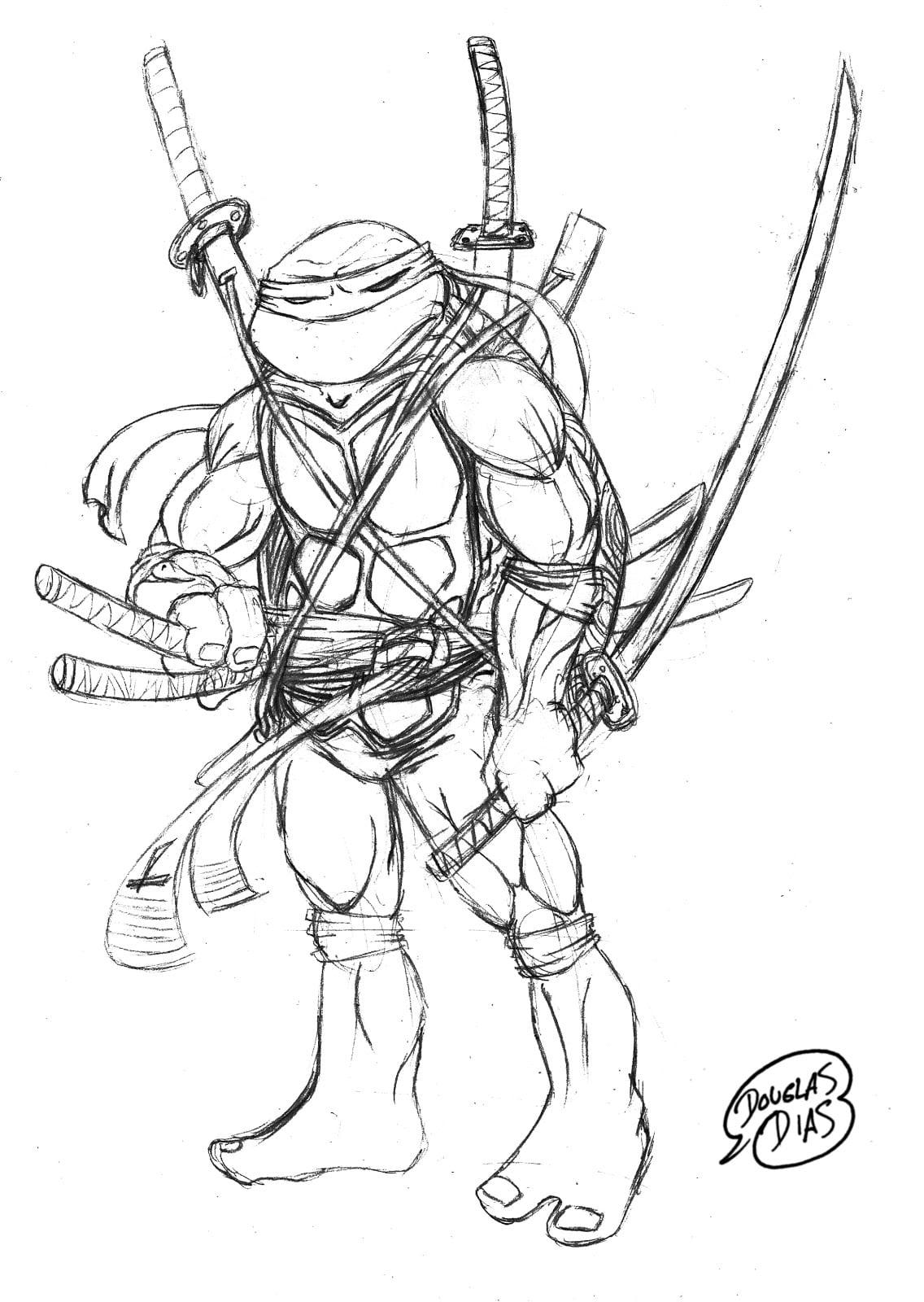 Desenho De Tartarugas Ninja Para Colorir