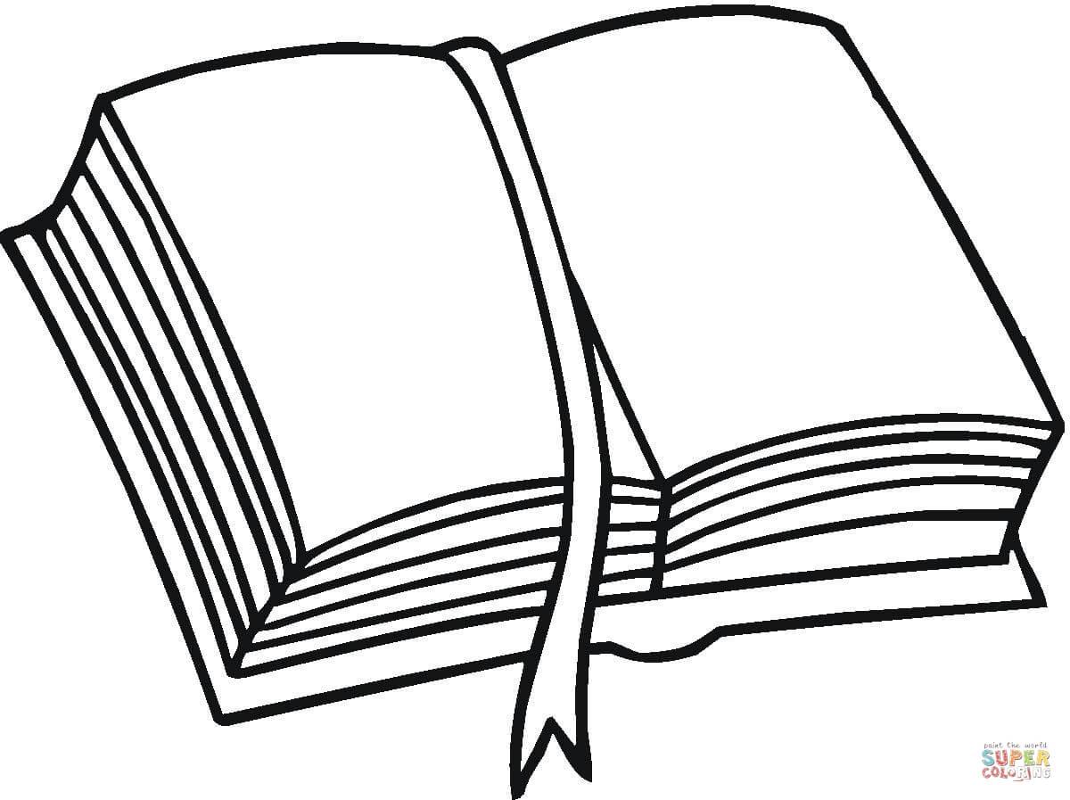 Desenho De Uma Pilha De Livros Para Colorir