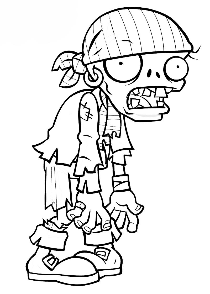 desenho de zumbi
