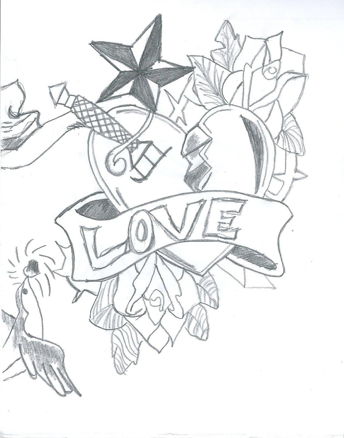 Desenhos  Muitas Vezes O Amor Doi