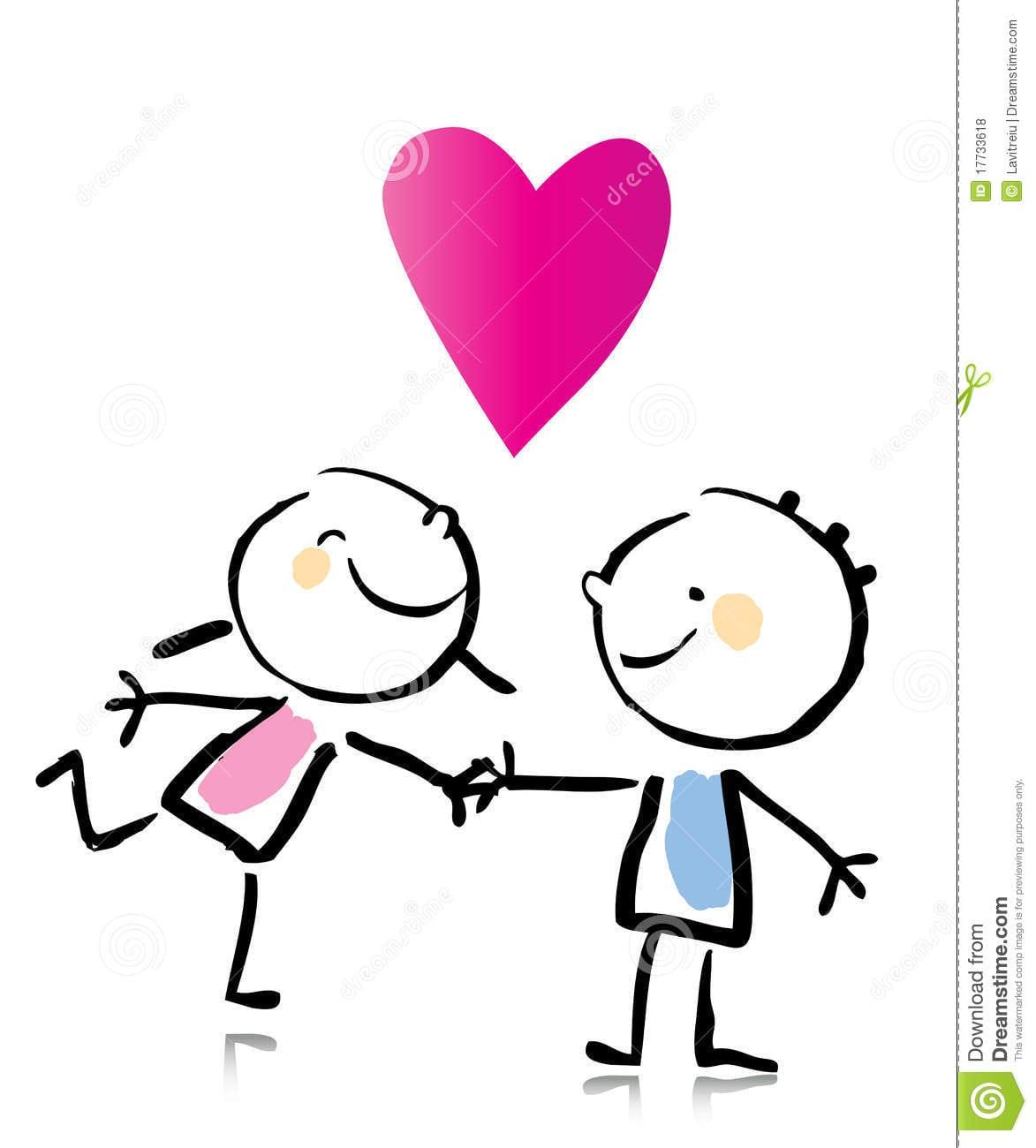 Desenhos Animados Do Dia Do Valentim Fotos De Stock Royalty Free