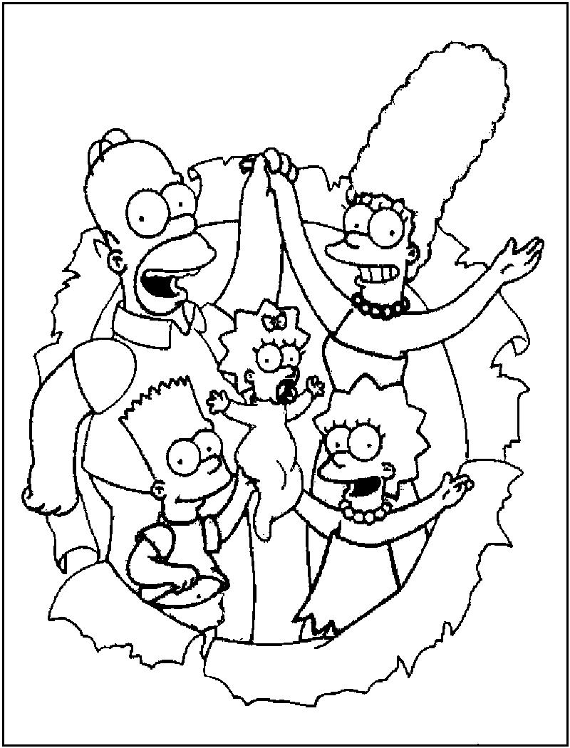 Desenhos Animados Os Simpsons Para Colorir Imagixs Sketch Coloring