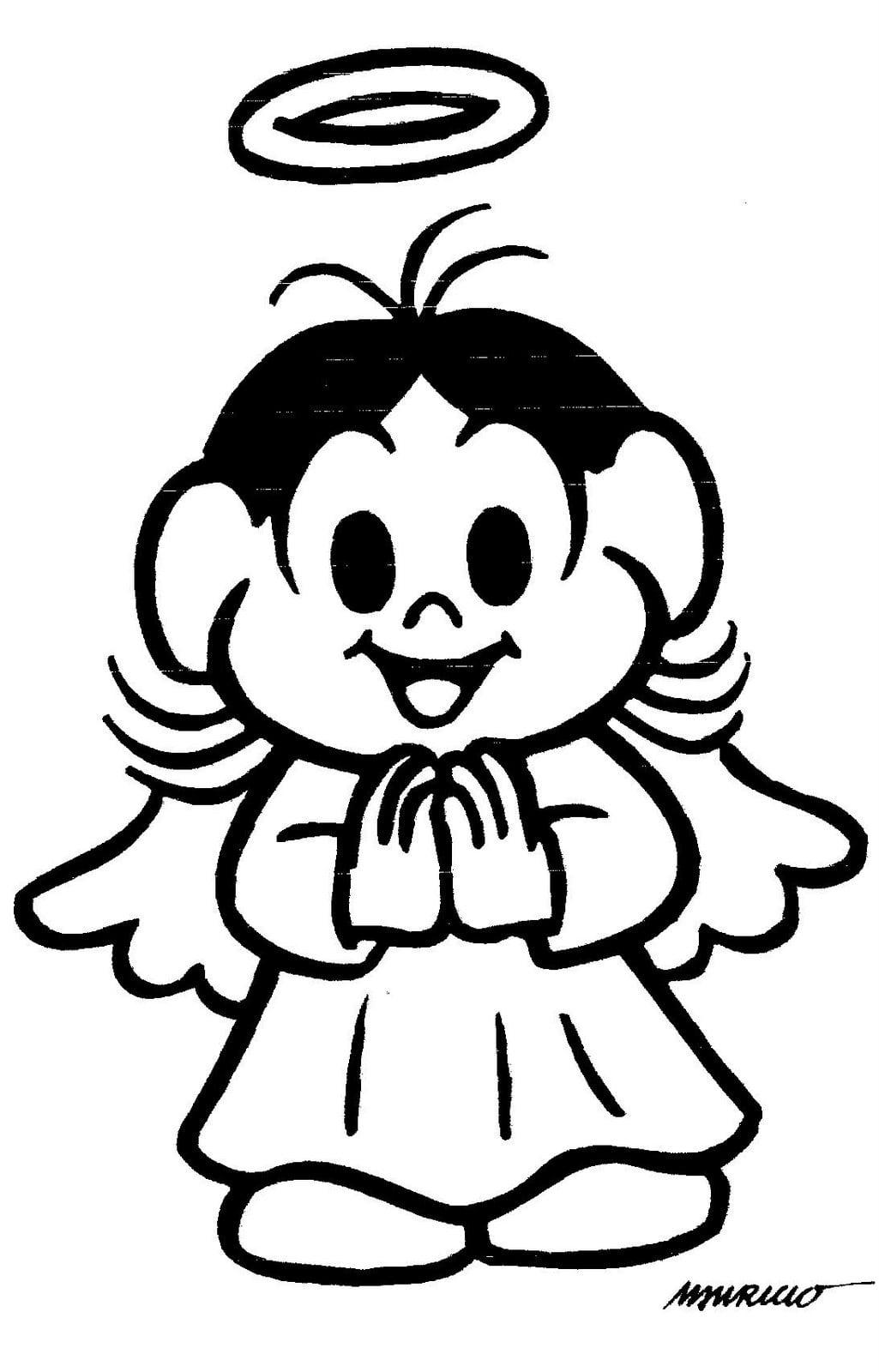 Desenhos Colorir Anjos Natal 7 Sketch Coloring Page