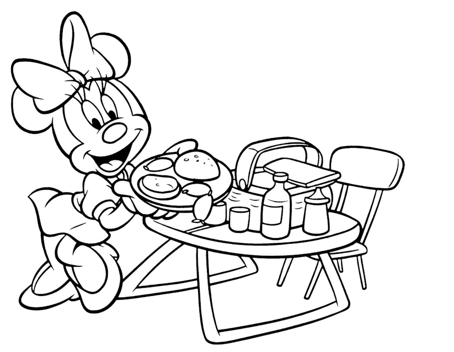 Desenhos Da Minnie Para Colorir Pintar Sketch Coloring Page