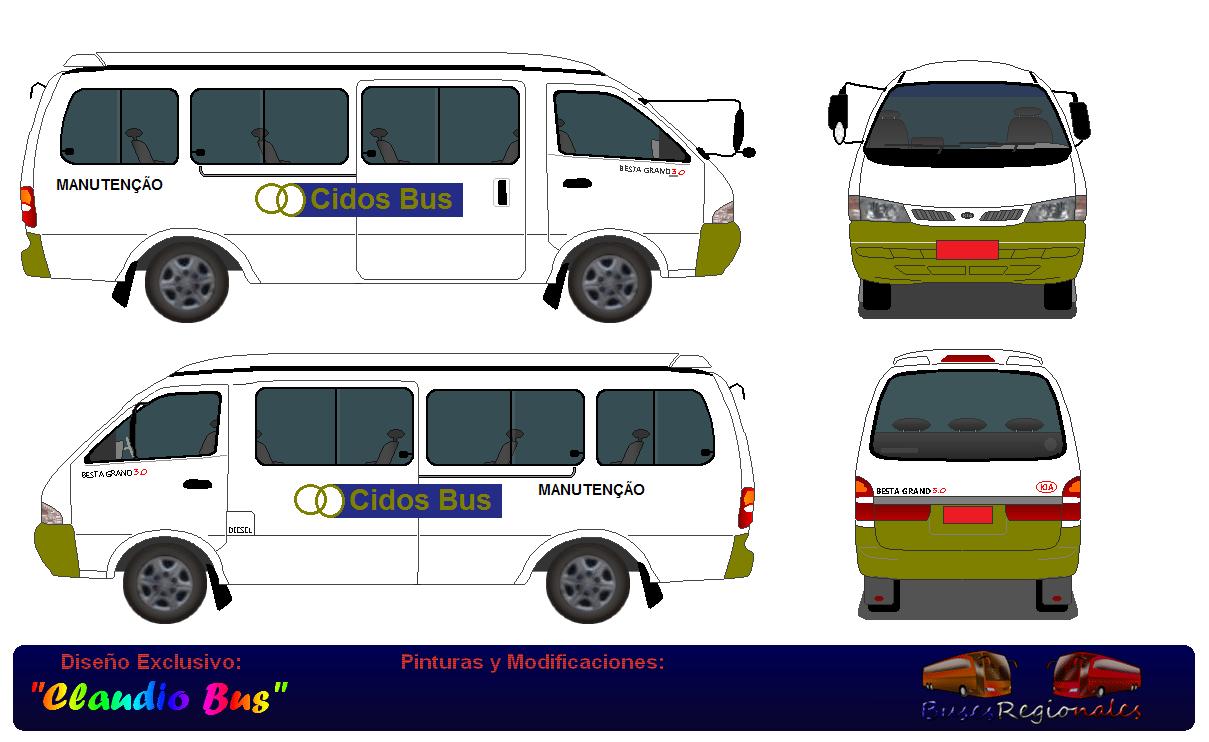 Desenhos De Ônibus Do Brasil  A Van De Manutenção Da Cidos Bus