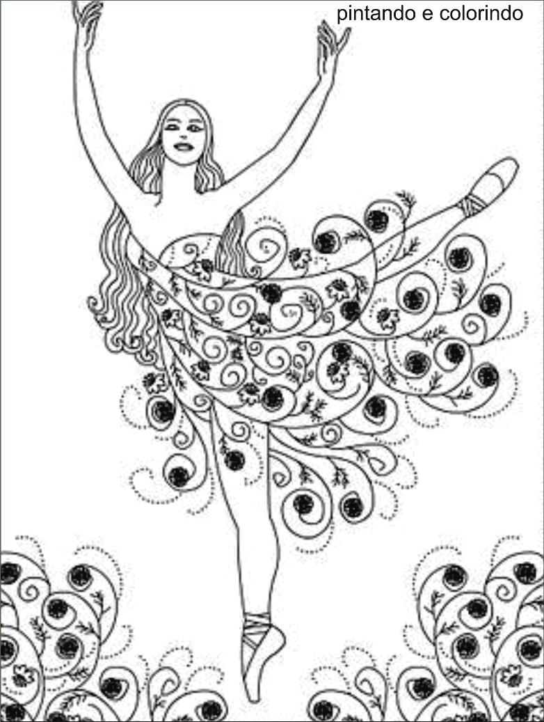 Desenhos De Bailarinas , Sapatilha De Balé Para Colorir E Imprimir