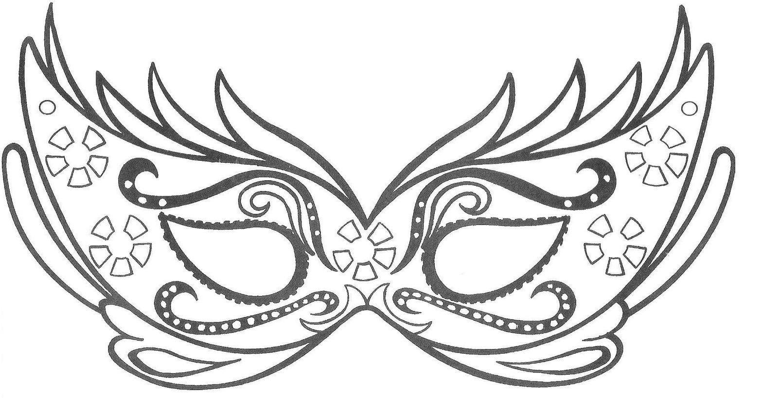 Desenhos De MÁscara De Carnaval Para Imprimir, Colorir