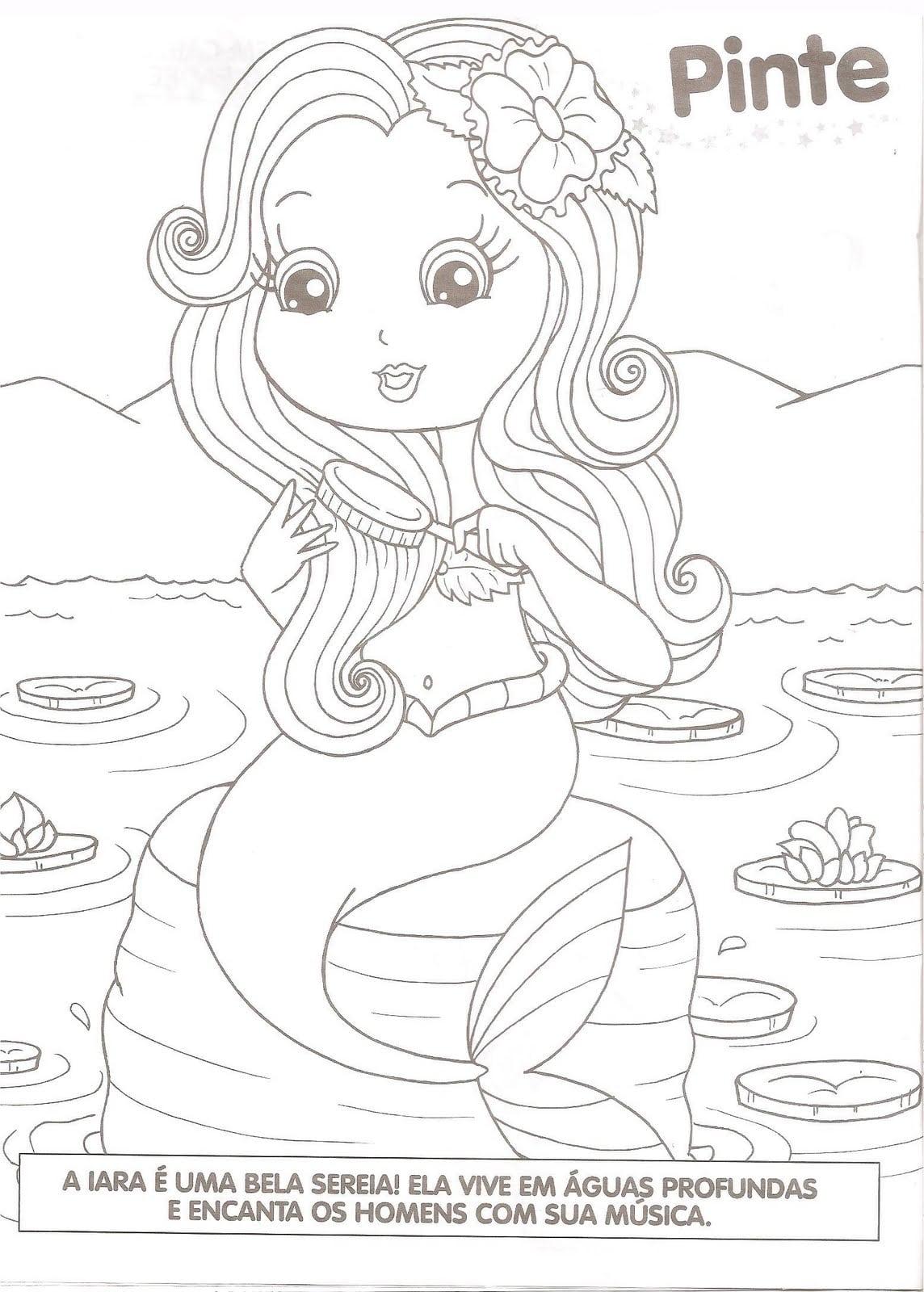 Desenhos De Sereias Para Colorir