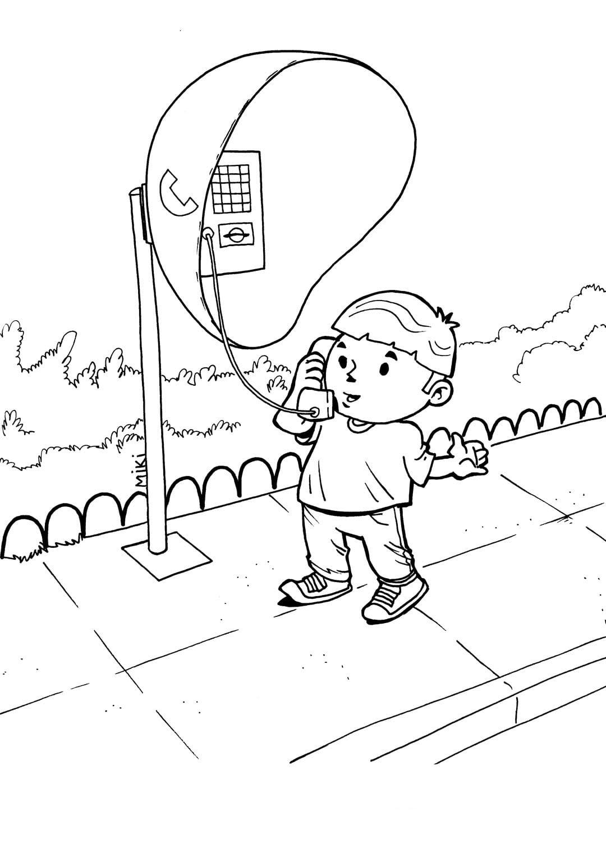 Desenhos De Telefone Para Colorir