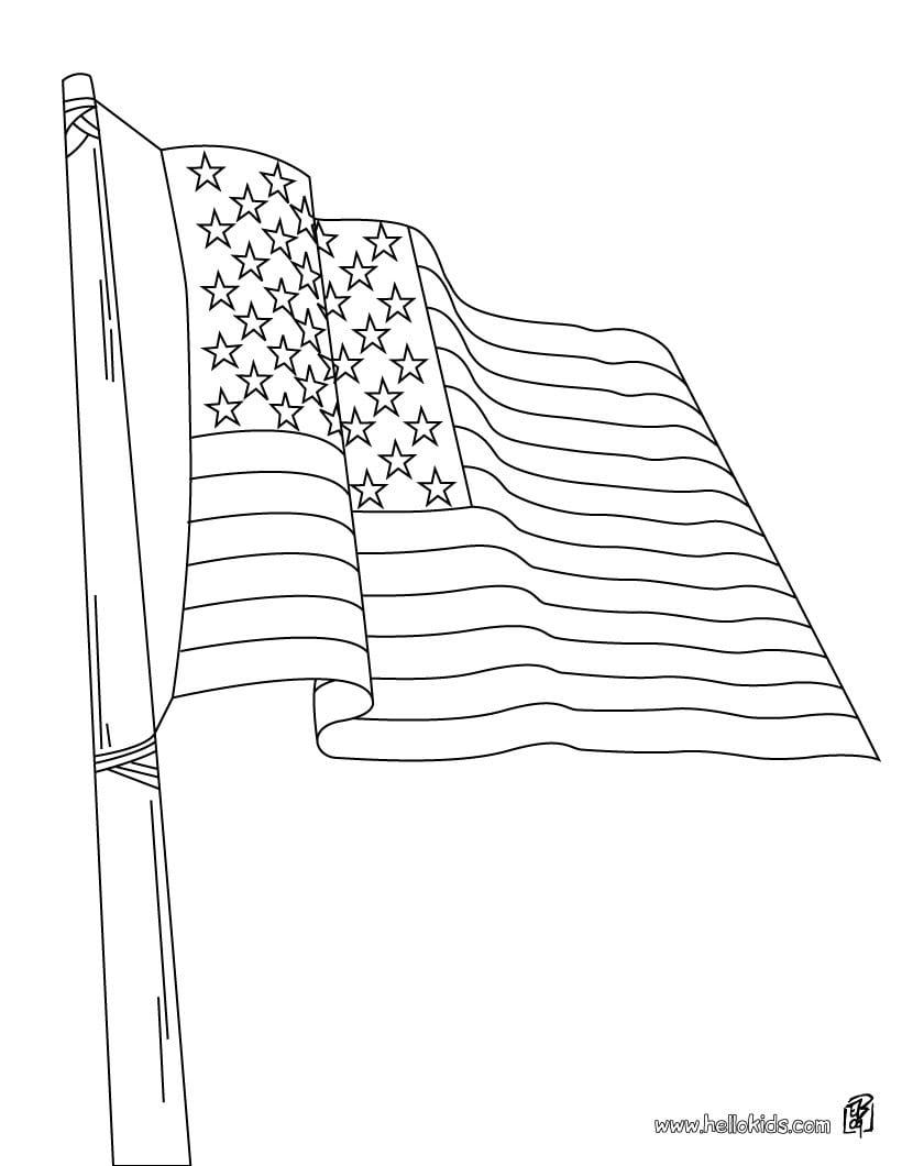 Desenhos Do Dia 4 De Julho Para Colorir