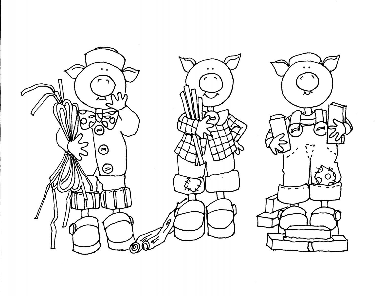 Desenhos Dos Três Porquinhos  Desenhos Para Colorir Dos Três