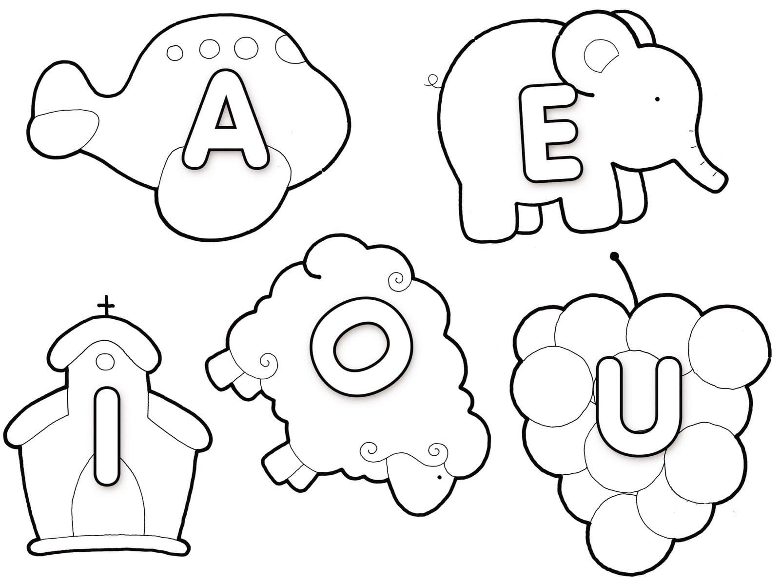 Desenhos educativos para colorir - Figuras decorativas grandes ...
