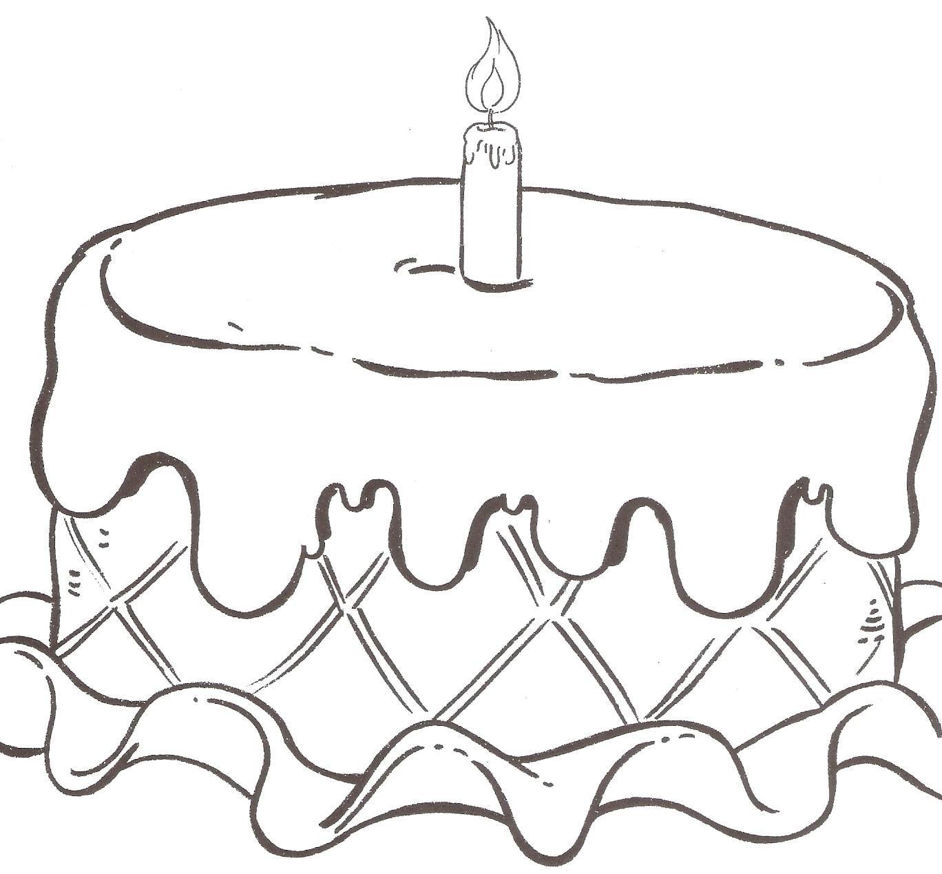 Desenhos Para Colorir De Aniversario Sketch Coloring Page