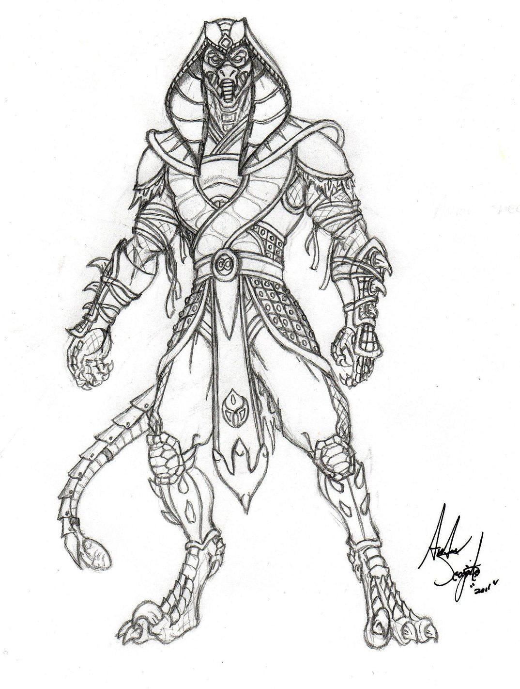 desenhos para colorir do mortal kombat