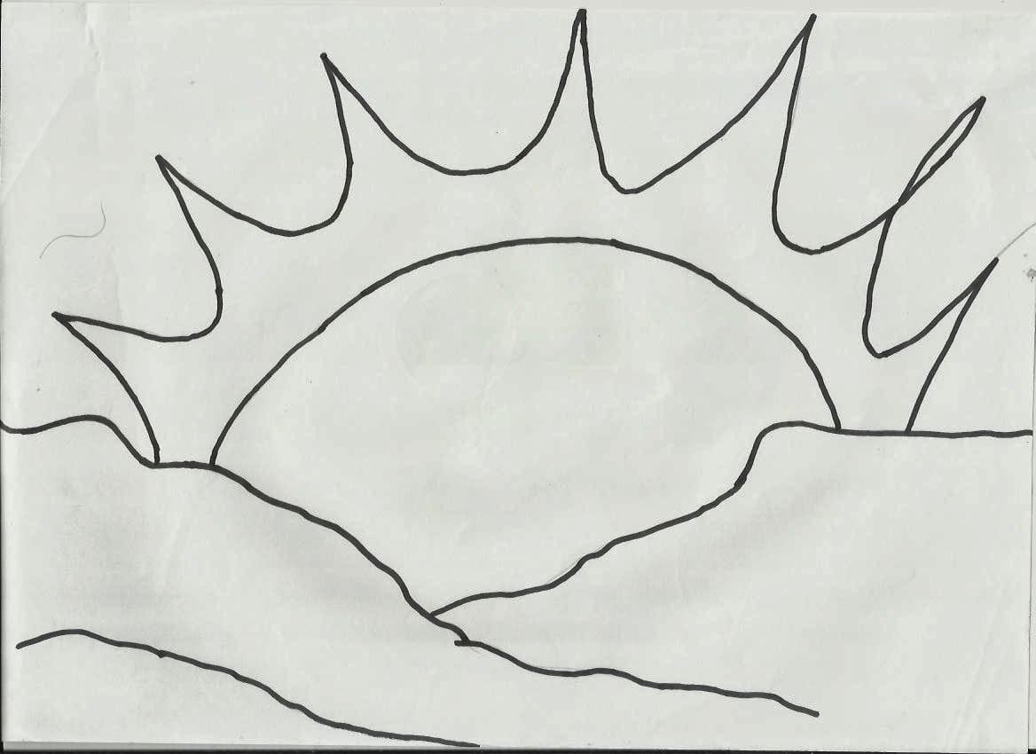 Desenhos Para Pintar  Desenhos De Sol Para Colorir