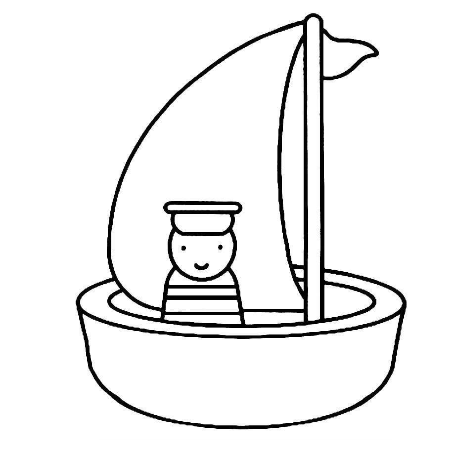 Desenhos Para Pintar De Barcos  Desenhos Para Colorir De Barcos
