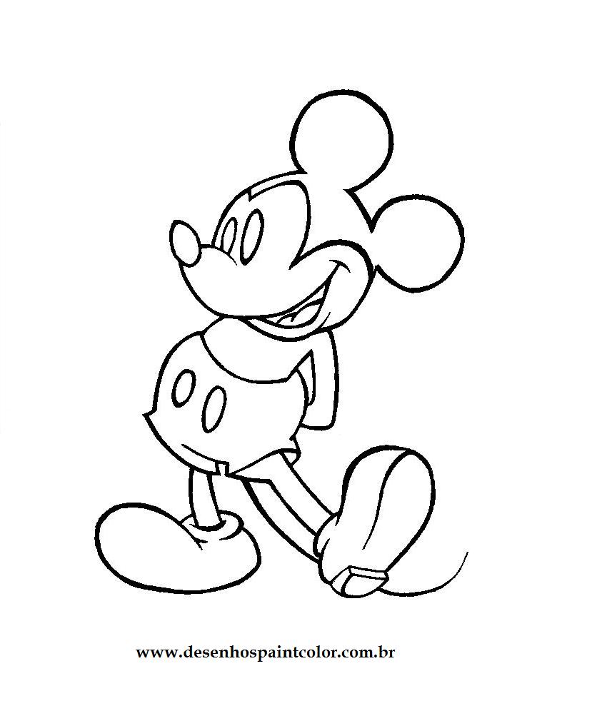 Desenhos Para Pintar Do Mickey Sketch Coloring Page