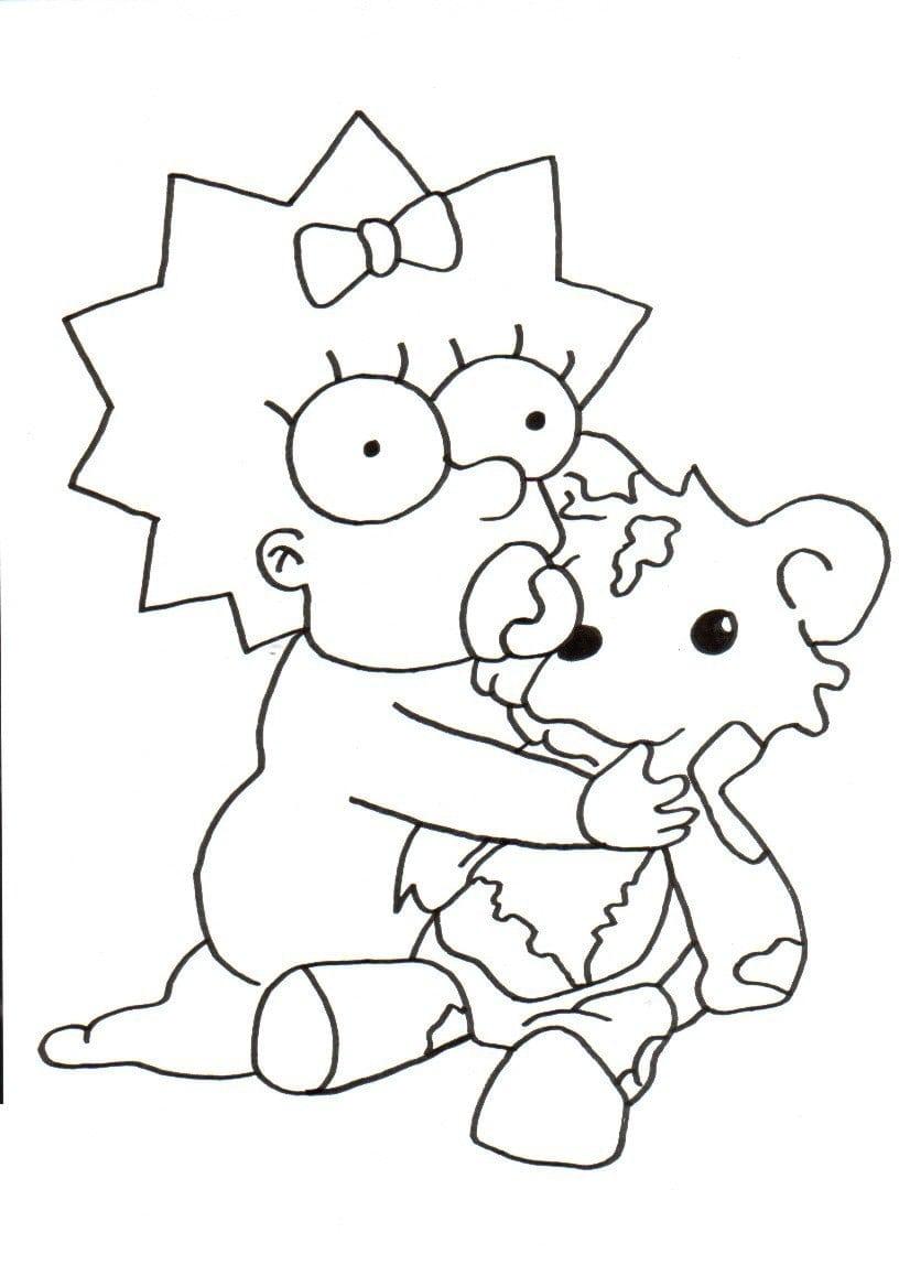 Desenhos Para Pintar Dos Simpsons  Desenhos Para Colorir Dos Simpsons
