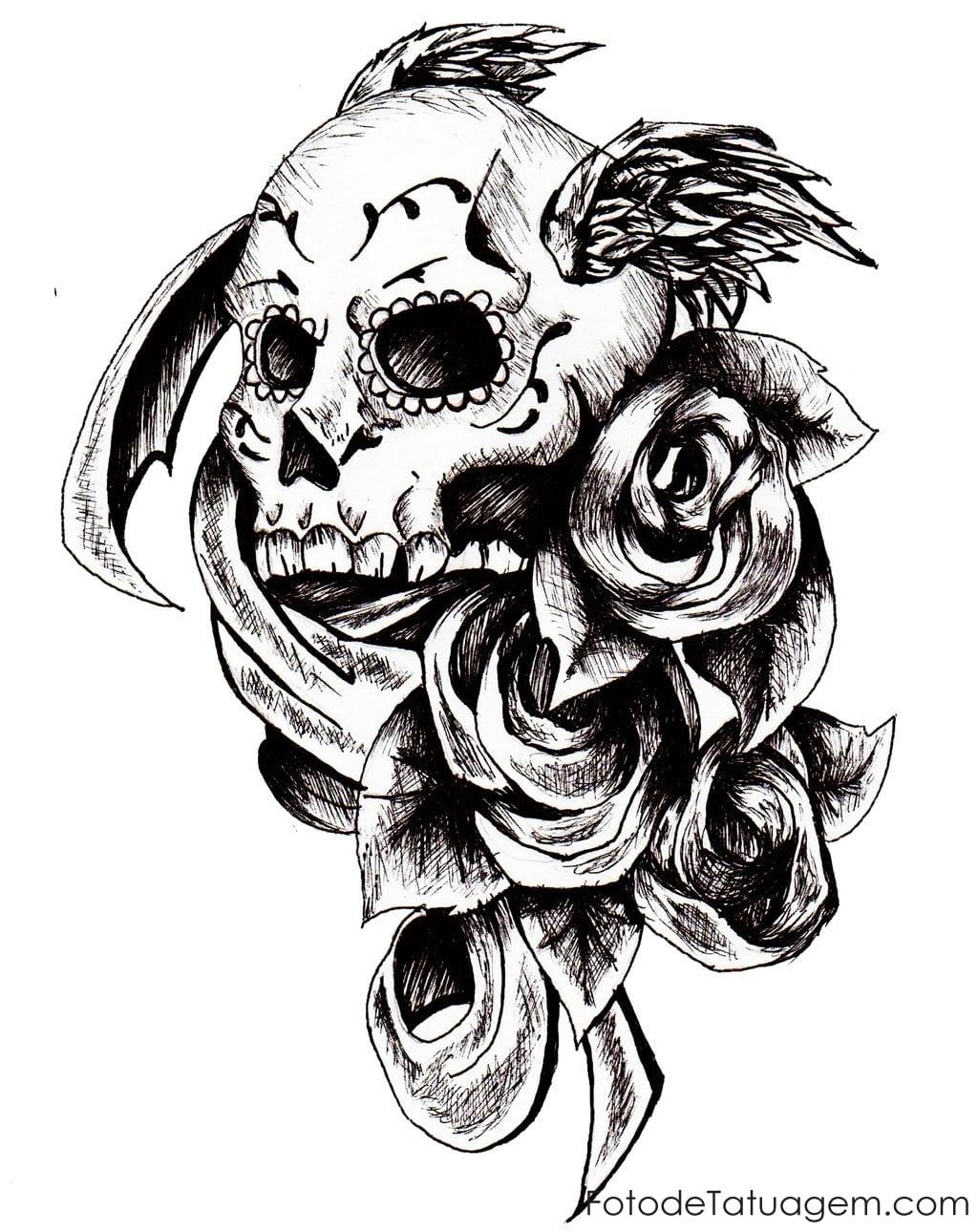Desenhos Para Tatuagem De Caveira