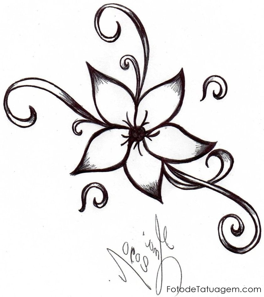 Desenhos Para Tatuagem De Flores