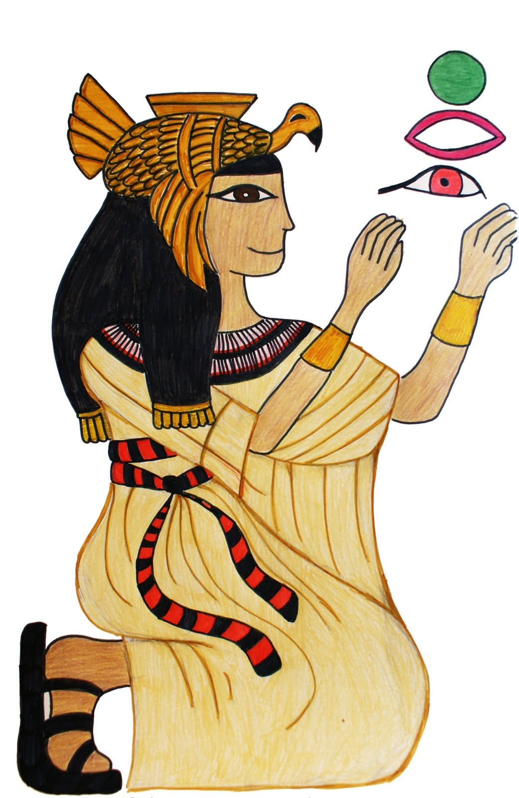 Ensino De História  Desenhos Sobre O Egito Antigo