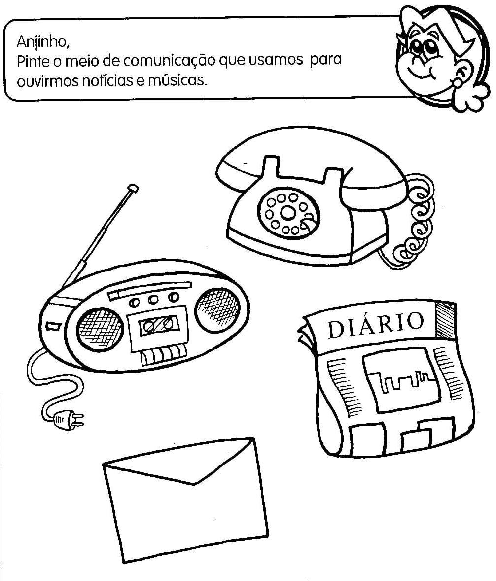 Espaço Escola  26 Atividades Com Meios De Comunicação