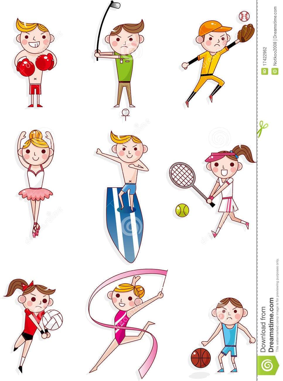 Esporte Dos Desenhos Animados Fotografia De Stock