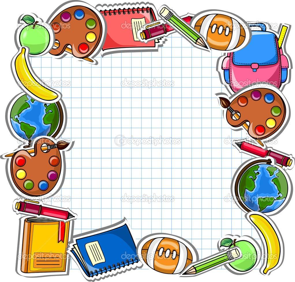 Fundo Escola, Desenho Vetorial — Vetor De Stock © Virinaflora