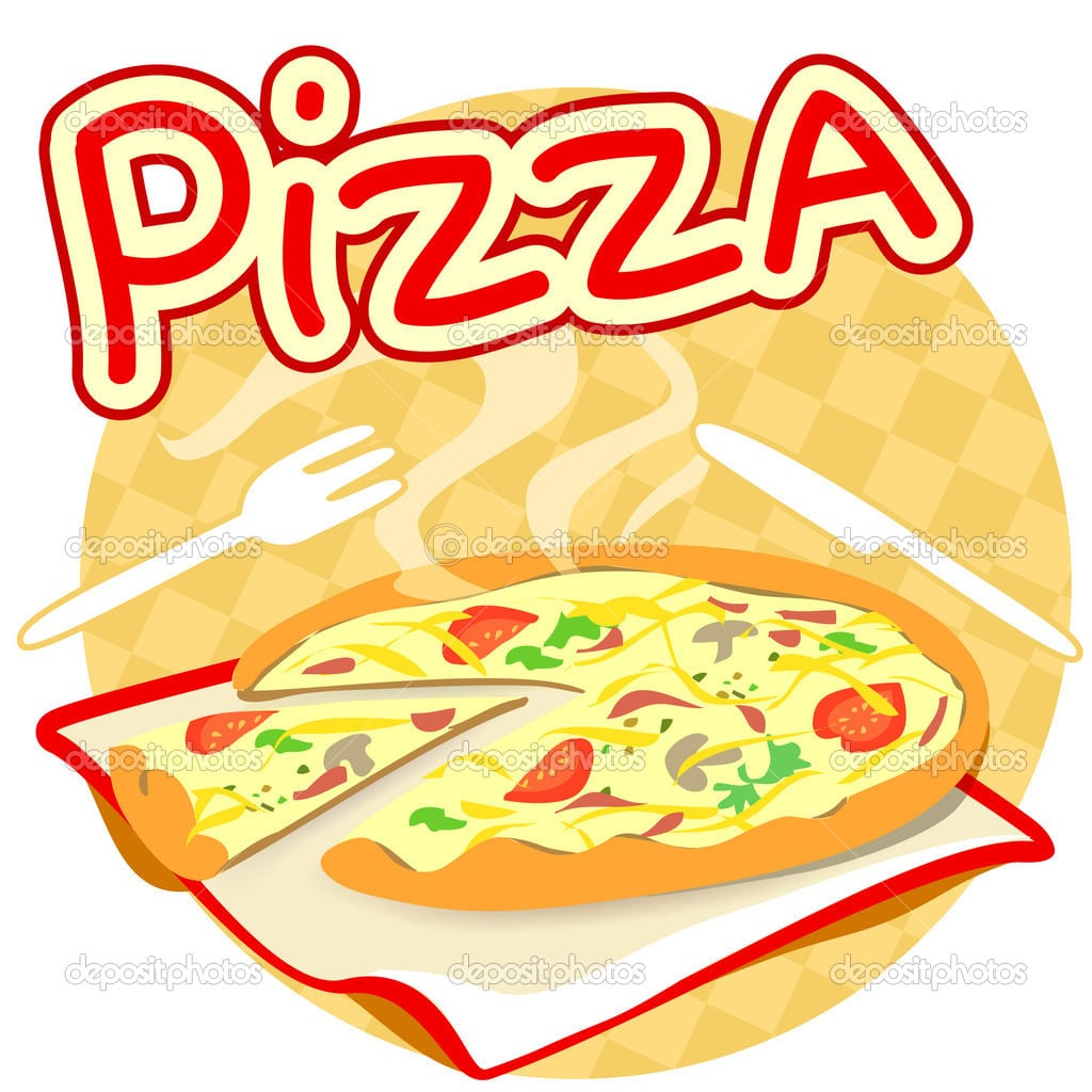 Icon With Pizza — Stock Vector © Moremari19  28447381