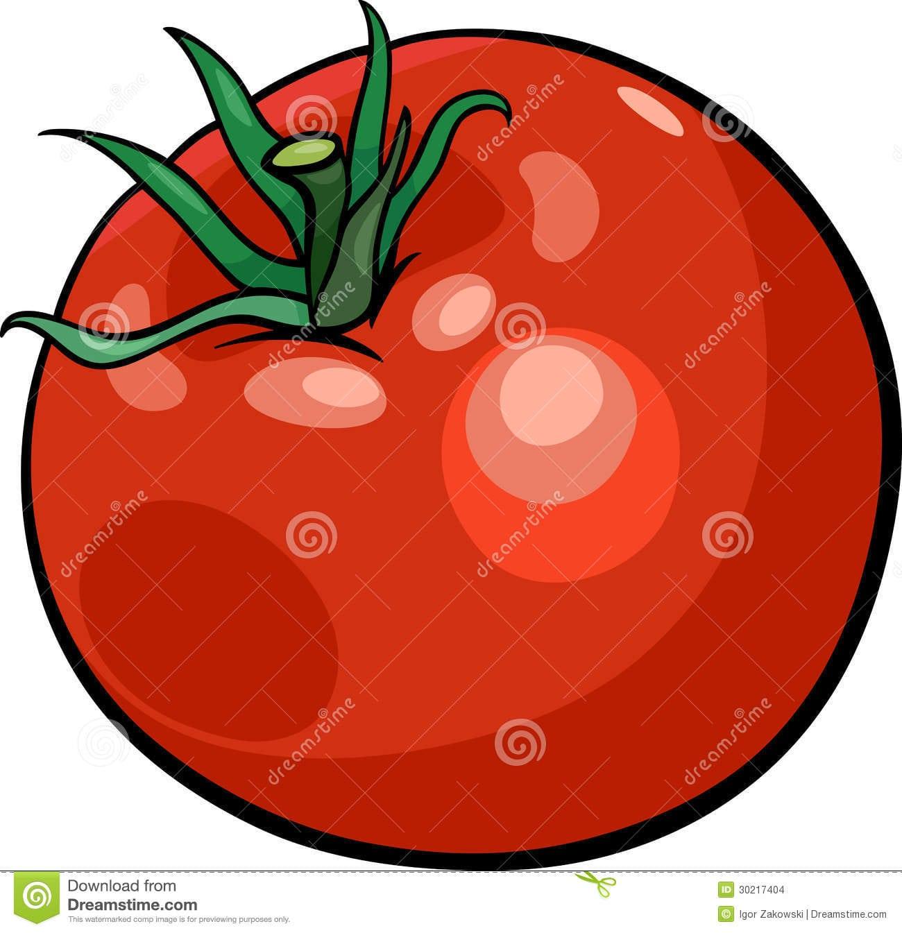 Ilustração Vegetal Dos Desenhos Animados Do Tomate Imagens De