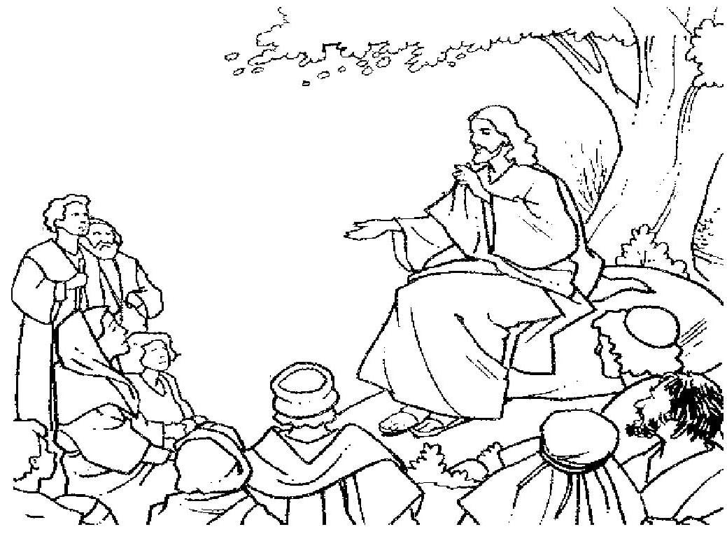 Imagem Para Colorir  Imagem Para Colorir De Jesus Cristo