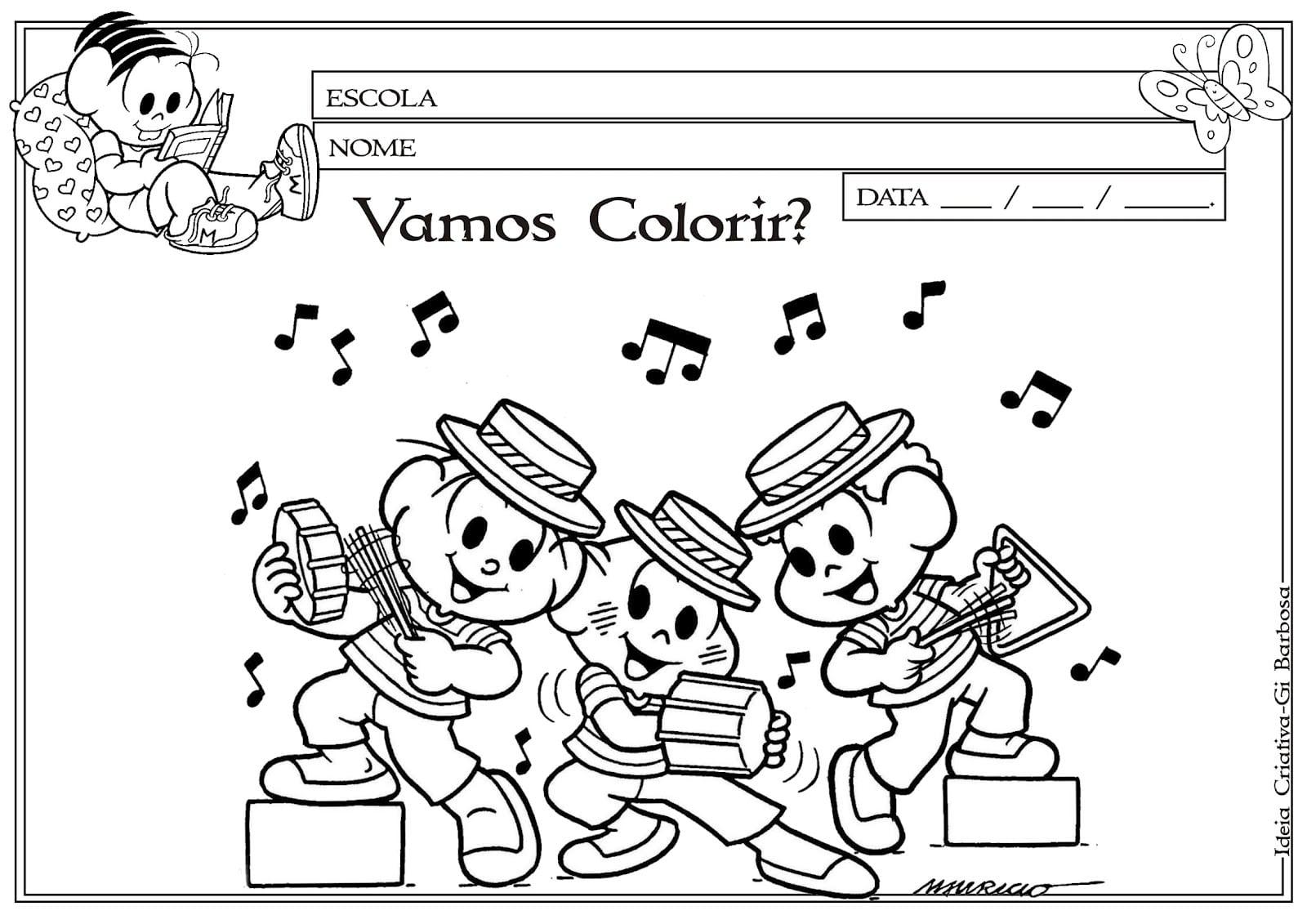 Imagens De Instrumentos Musicais Para Imprimir E Colorir