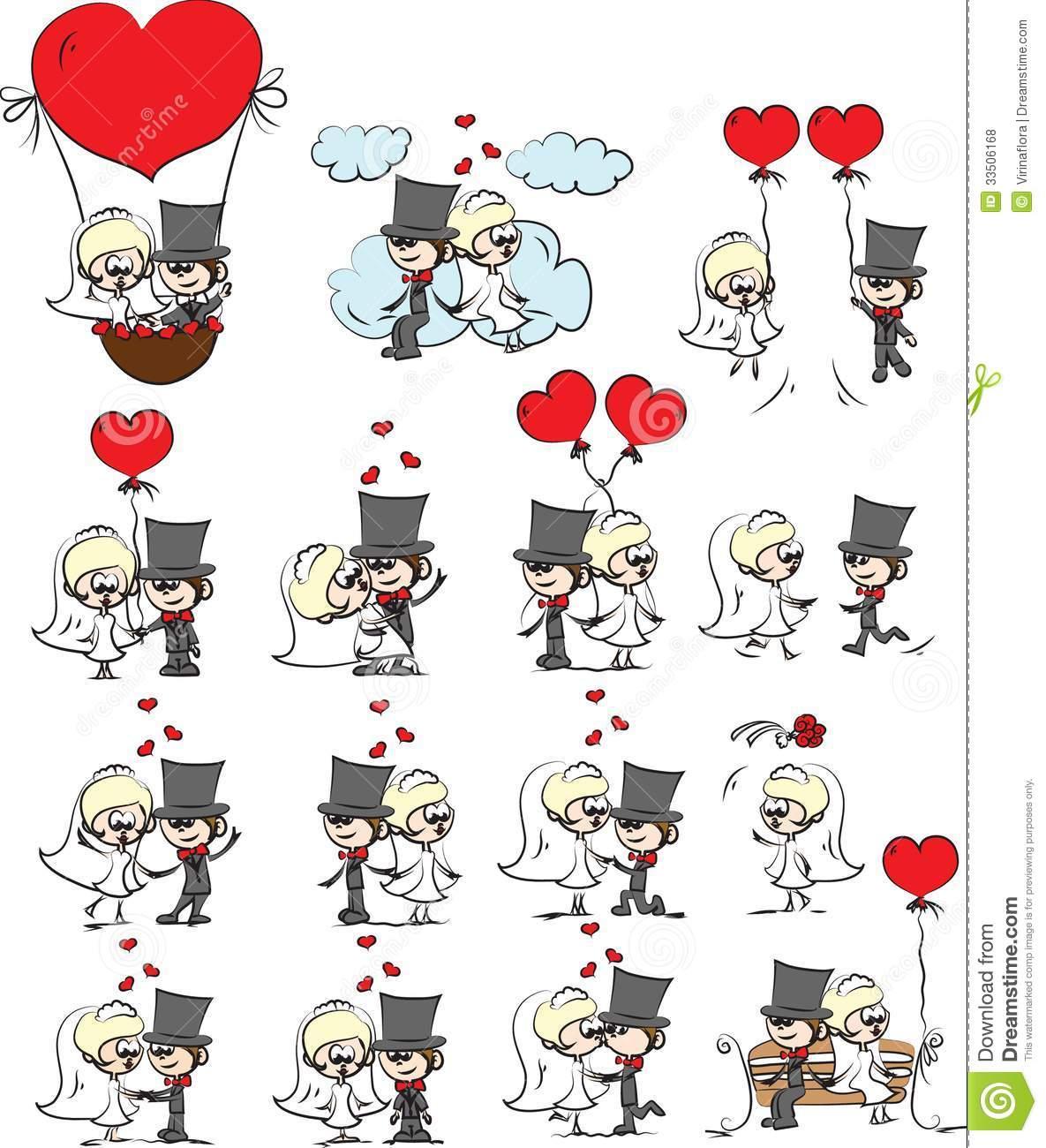 Imagens Do Casamento Dos Desenhos Animados Fotos De Stock Royalty