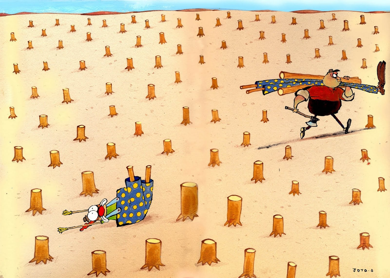 Jota A  Desmatamento